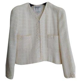 Chanel-Skirt suit-White