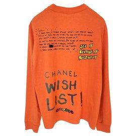 Chanel-RARE!! x PHARRELL Graffiti Sweatshirt-Orange