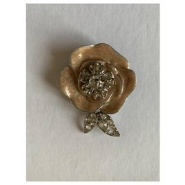 Chanel-Pins & brooches-Silvery,Beige