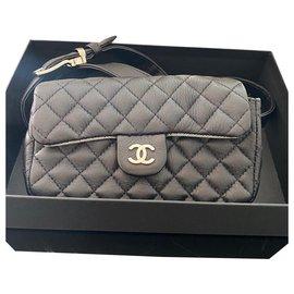 Chanel-Chanel banana bag-Black