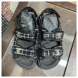 Chanel-Chanel dad sandals-Black