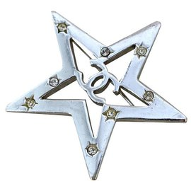 Chanel-Chanel star brooch-Silvery