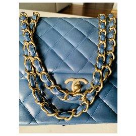 Chanel-Chanel classic flap shoulder bag-Light blue
