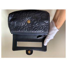 Chanel-Chanel Camellia bag / pouch / pouch-Blue