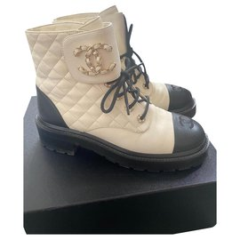 Chanel-Chanel boots-White