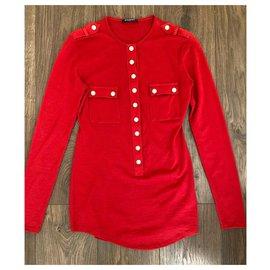 Balmain-tunics-Red