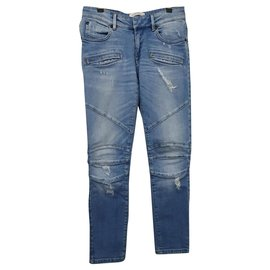 Balmain-blue denim jeans-Blue