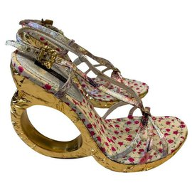 Louis Vuitton-lv limited edition sandals-Golden