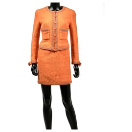 Chanel-Mythical Spring tweed suit 1994-Orange