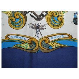 Hermès-Hermès vintage ingrid square in excellent condition-Blue
