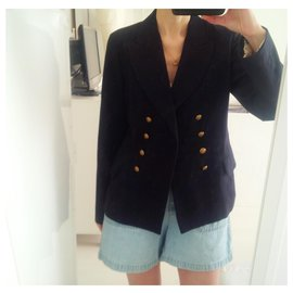 Marina Yachting-Marina Yachting navy blue blazer with gold nautical buttons. in excellent condition.-Navy blue,Gold hardware