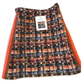 Chanel-5,2K$ New HAMBURG Tweed Skirt-Multiple colors