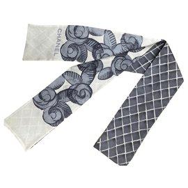 Chanel-Chanel silk choker-Grey