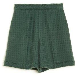 Chanel-TWEED GREEN FR36/38-Dark green