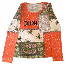 Dior-Tee shirt Dior imprimé Paisley-Multicolore