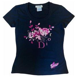 Dior-Tee shirt Dior-Noir,Rose
