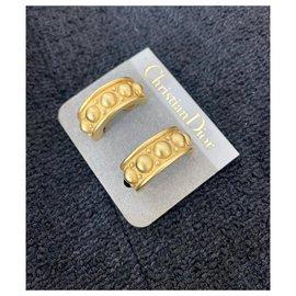 Dior-Boucles d'oreilles Dior dorées-Doré