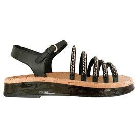 Chanel-Dad new sandals-Black