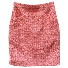 Chanel-Tweed skirt 2020 Neuve-Coral