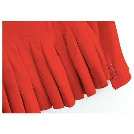 Alexander Mcqueen-Alexander Mcqueen Resort '15 Peplum Hem Jacket-Red