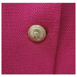 Balmain-Balmain Golden Buttons Single Breasted Red Jacket Sz 36-Red
