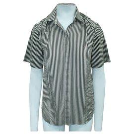 3.1 Phillip Lim-Striped shirt-Brown
