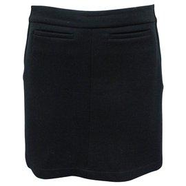 Chanel-Classic Black Mini Skirt-Black