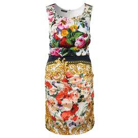 Dolce & Gabbana-Silk Floral Dress-Multiple colors