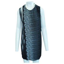 3.1 Phillip Lim-Faux Pearls Dress-Black