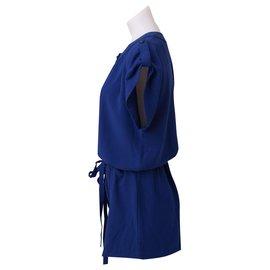 Anna Sui-Tshirt Romper-Blue