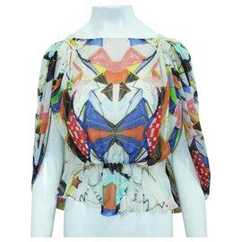 Tsumori Chisato-Silk Asymmetrical Top-Multiple colors