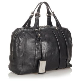 Dolce & Gabbana-Dolce&Gabbana Black Miss Madison Boston Bag-Black