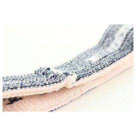 Chanel-02C Pink x Black CC Coco Headband Sweat Band Gym-Other