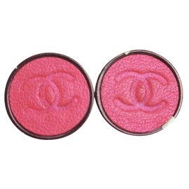 Chanel-00A Red CC Earrings-Other