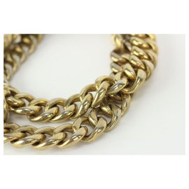 """Chanel-26.5"""" 1980's Jumbo Gold Cuban Link Chain Necklace-Other"""