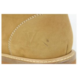 Louis Vuitton-LV7.5 MENS US 8.5 Monogram x Nubuck Oberkampf Ankle Boot-Other