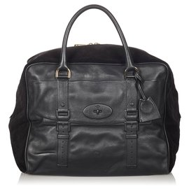 Mulberry-Mulberry Black Bayswater Leather Travel Bag-Black