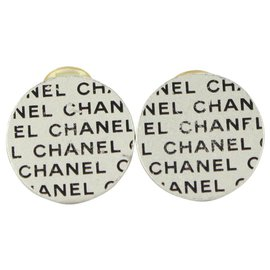 Chanel-00C Silver x Black CC Logo All Over Earrings-Other