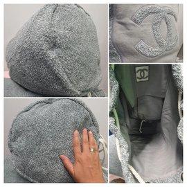 Chanel-Chanel backpack + XL towel-Grey