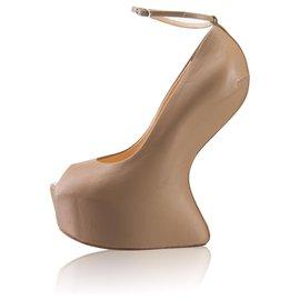 Giuseppe Zanotti-lined Platform No Heel Pump-Flesh