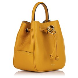 Mulberry-Mulberry Yellow Small Hampstead Leather Bucket Bag-Yellow