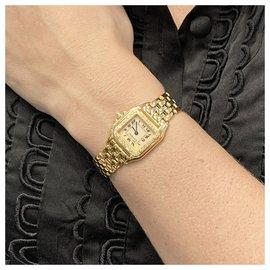 """Cartier-Montre Cartier """"Panthère"""" en or jaune, diamants.-Autre"""