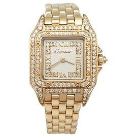 """Cartier-Montre Cartier, """"Panthère"""", en or jaune et diamants.-Autre"""
