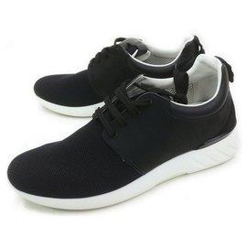 Louis Vuitton-LV 7.5 men's 8.5 US Black Damier Fastlane Sneakers-Other