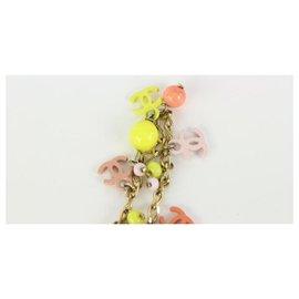 Chanel-03C Multicolor CC Charm Bracelet Bangle Cuff-Other
