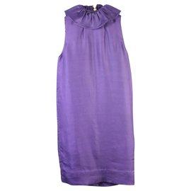 3.1 Phillip Lim-Purple Dress With Ruffles Collar-Purple