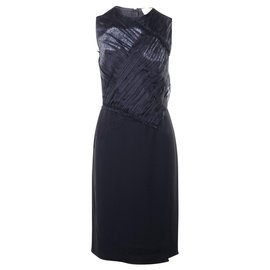 3.1 Phillip Lim-Black Dress With Lace Details-Black