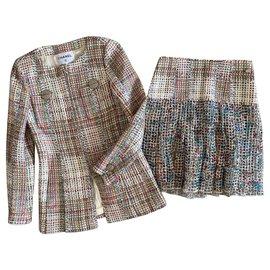 Chanel-9K$ CUBA Tweed Suit-Multiple colors