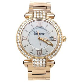 """Chopard-Chopard watch, """"Imperial"""", Rose gold, amethysts, diamonds and mother of pearl.-Other"""