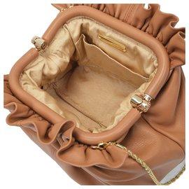 Loeffler Randall-Willa Bag in Brown Leather-Brown